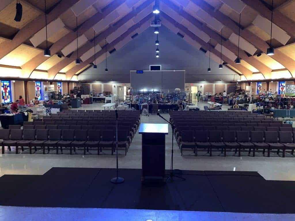 Interior of Maguire Auditorium