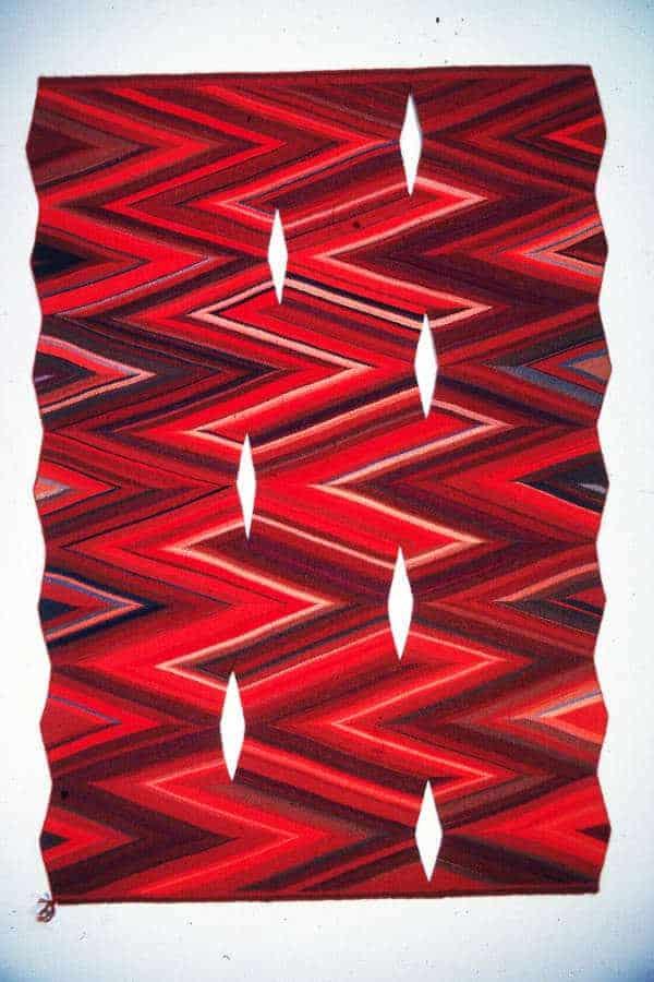 untitled slit wedge weave piece by artist Martha Stanley